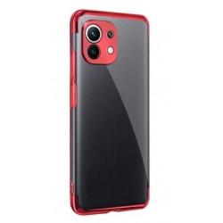 TPU obal na Samsung Galaxy A22 5G s barevným rámečkem - Červená