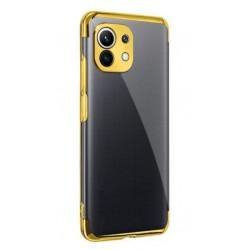 TPU obal na Realme C21 s barevným rámečkem - Zlatá
