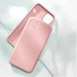 Liquid silikonový obal na iPhone 13 Pro   Eco-Friendly - Růžová