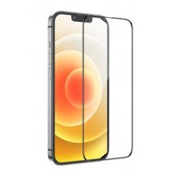Tvrzené ochranné sklo s černým rámečkem na mobil iPhone 13 Pro Max