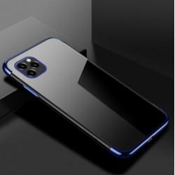 TPU obal na iPhone 13 Pro Max s barevným rámečkem - Modrá