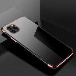 TPU obal na iPhone 13 Pro Max s barevným rámečkem - Růžová