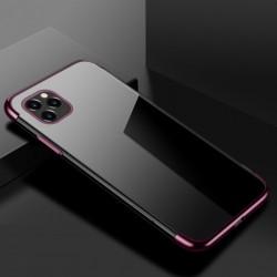 TPU obal na iPhone 13 Pro Max s barevným rámečkem - Fialová