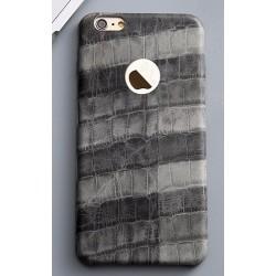 iPhone 6 luxusní šedý kryt s motivem krokodýlí kůže