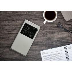 Flip obal s průhledem pro Samsung Galaxy J7 2016 - Bílý