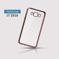 Silikonový obal s růžovým rámečkem pro Samsung Galaxy J7 2016