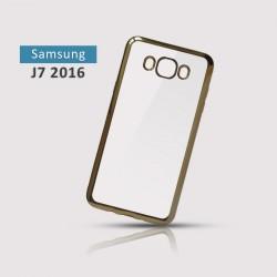 Silikonový obal se zlatým rámečkem pro Samsung Galaxy J7 2016