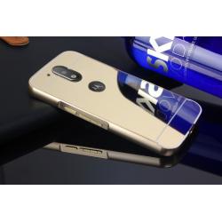 Zrcadlový kryt pro Lenovo Moto G4 - Zlatý