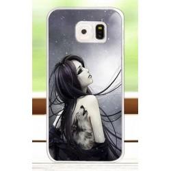 Samsung S6 G920F kryt s potiskem Dívka