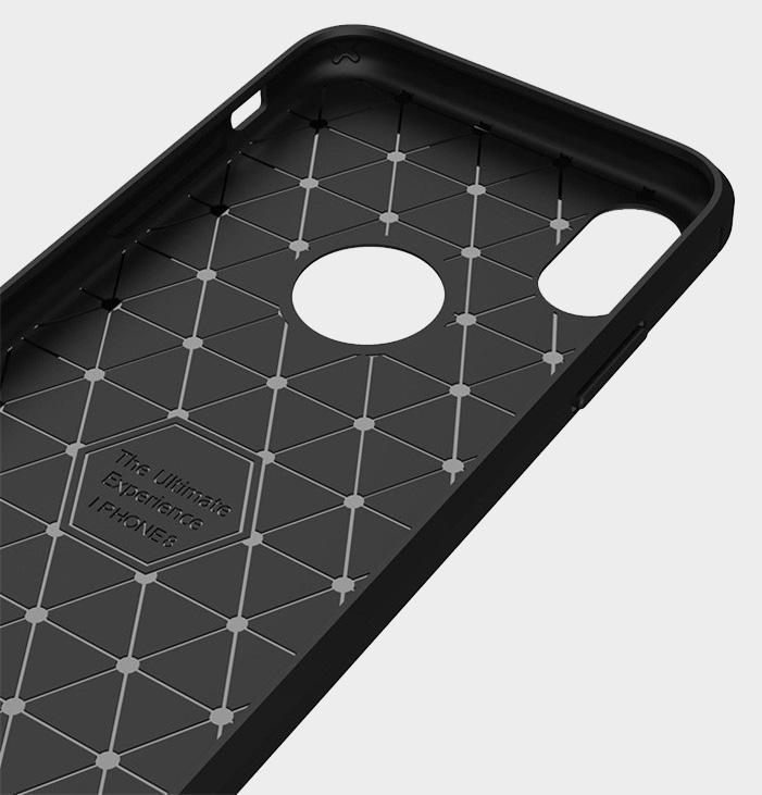 Kryt s motivem carbon s přesnými výřezy pro iPhone 6