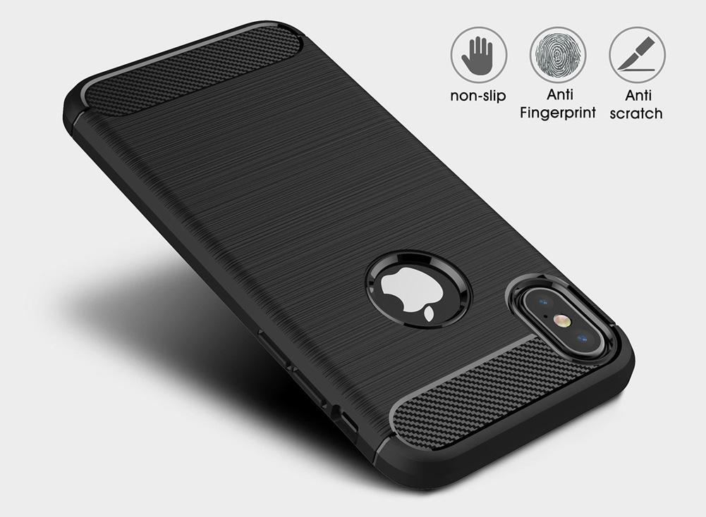 Obal s motivem broušeného kovu a karbonu pro iPhone 6