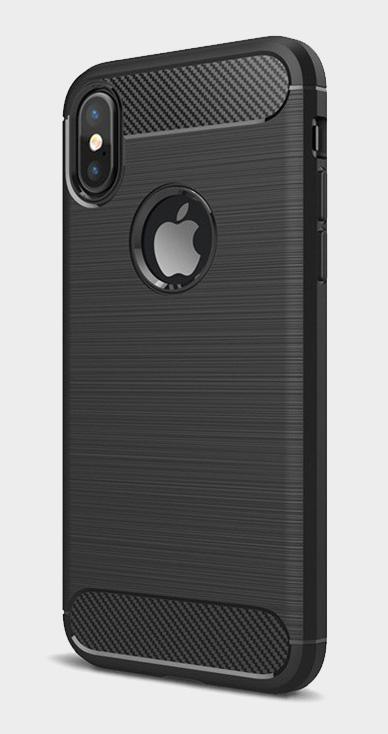 Odolný kryt s motivem broušeného kovu a karbonu pro iPhone 6