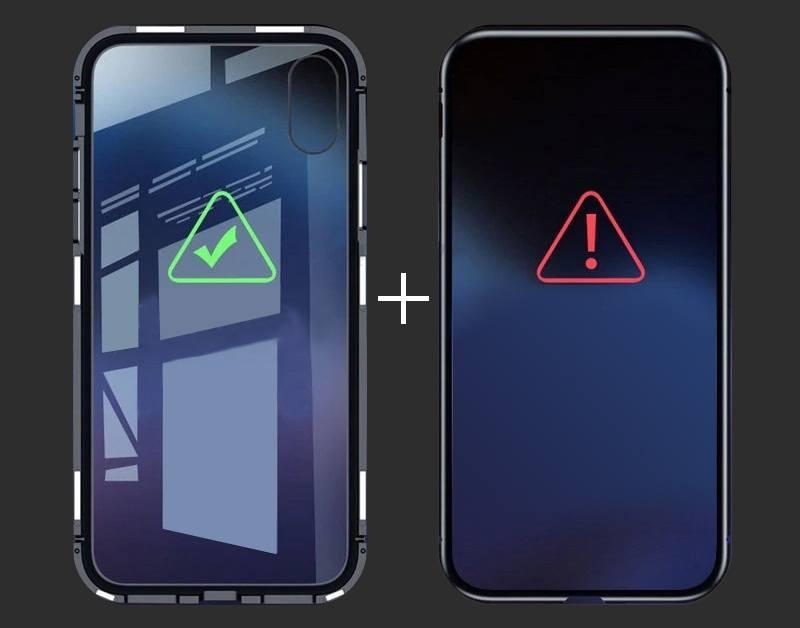 Magnetický obal na Samsung Galaxy A70 s tvrzeným sklem