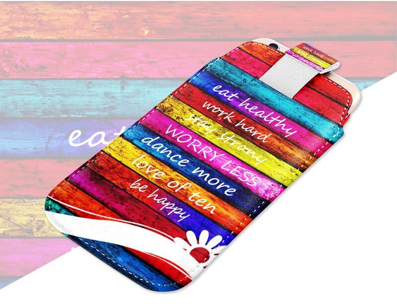 Zářivé barvy elegantního obalu na telefon