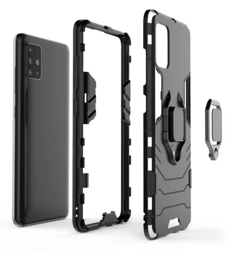 Silikonový obal na iPhone 12 s pevným skeletem