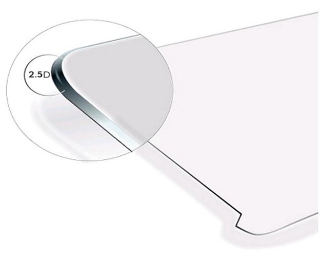 2.5D zaoblené hrany skla