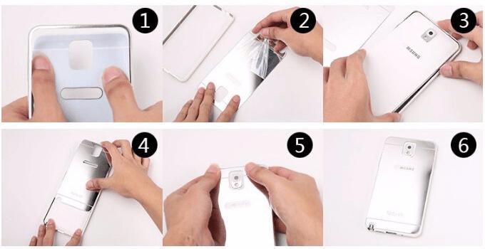 Instalace zrcadlového krytu pro Samsung Galaxy  S7 Edge