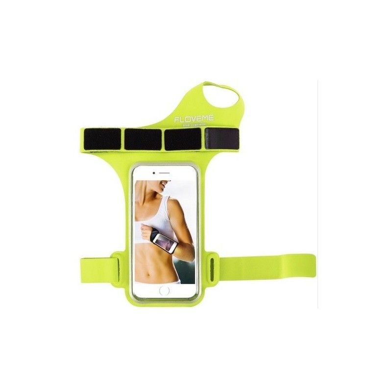 Sportovní obal pro mobil na zápěstí - žlutý