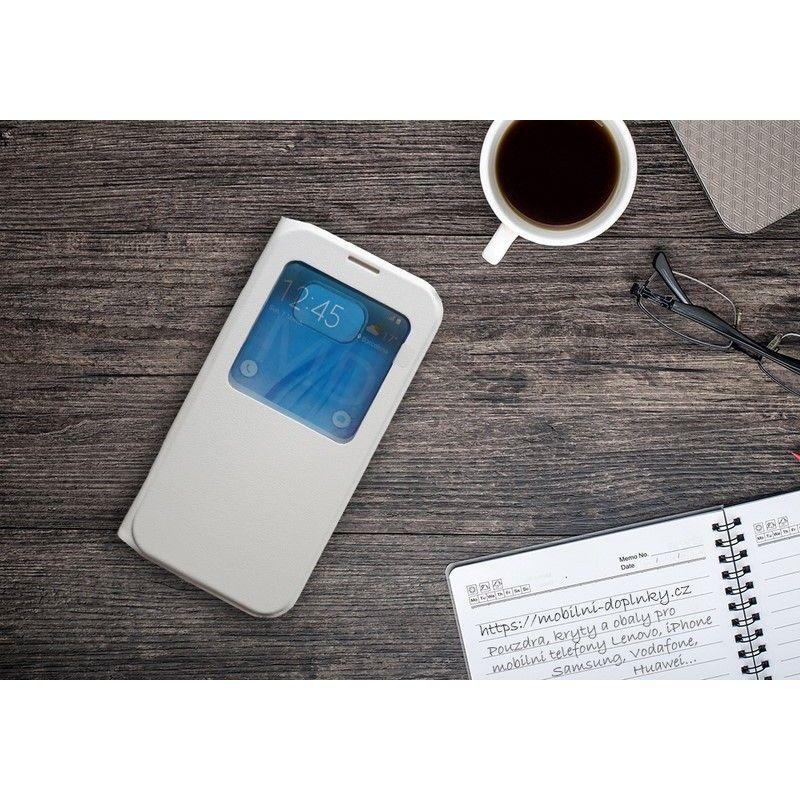 Flip obal s průhledem pro Samsung Galaxy S8 Plus - Bílý