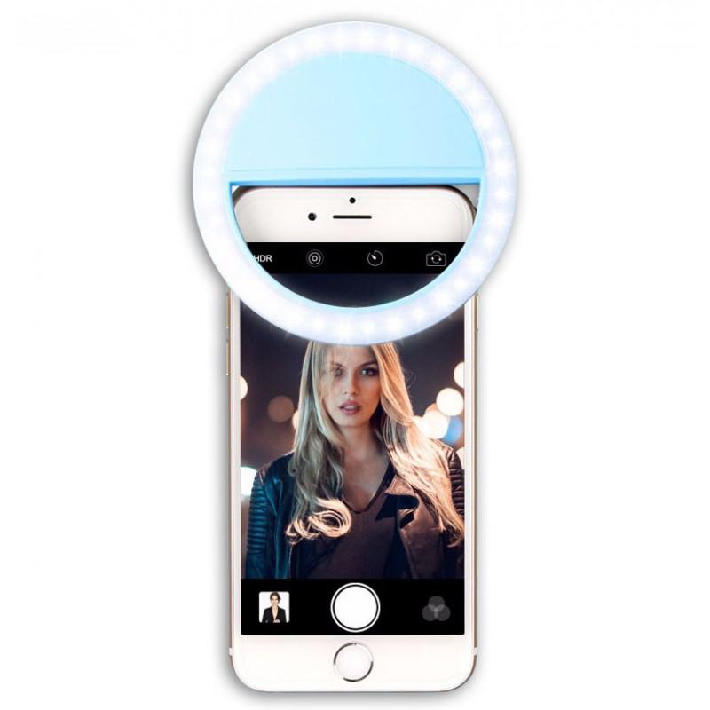 Univerzální LED selfie blesk černý