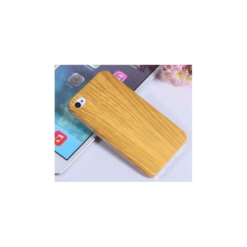Kryt pro iPhone 4 4s dřevěný motiv-Béžová