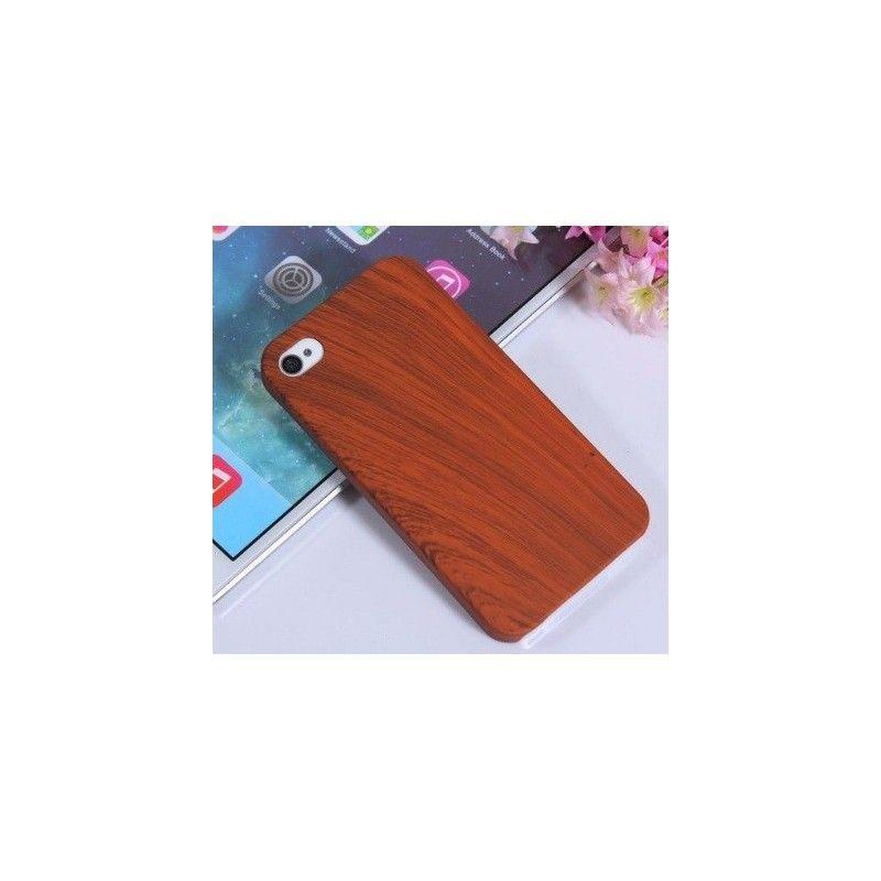 Kryt pro iPhone 4 4s dřevěný motiv-Hnědá
