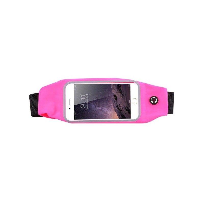 Sportovní ledvinka na mobil Růžová