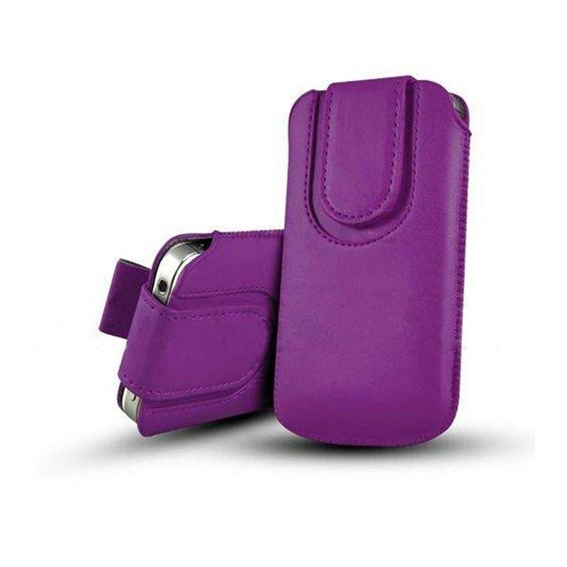 Obal kapsa s magnetickou klipsou - Pull Tab-Tmavě fialová