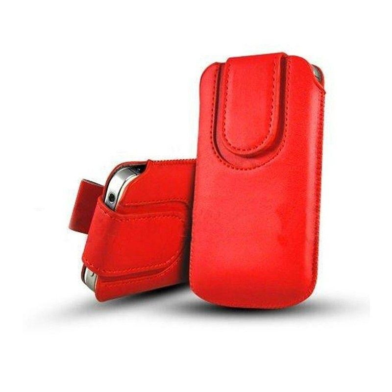 Obal kapsa s magnetickou klipsou - Pull Tab-Červená