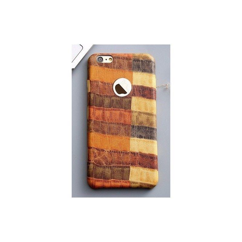 iPhone 6 luxusní hnědý kryt s motivem krokodýlí kůže