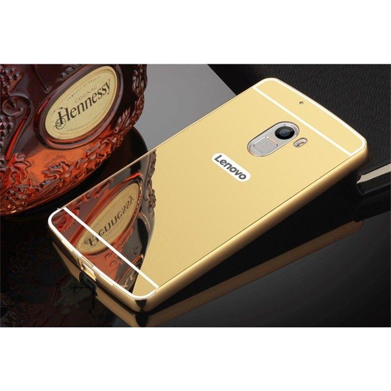 Zrcadlový kryt pro Lenovo A7010 - Zlatý