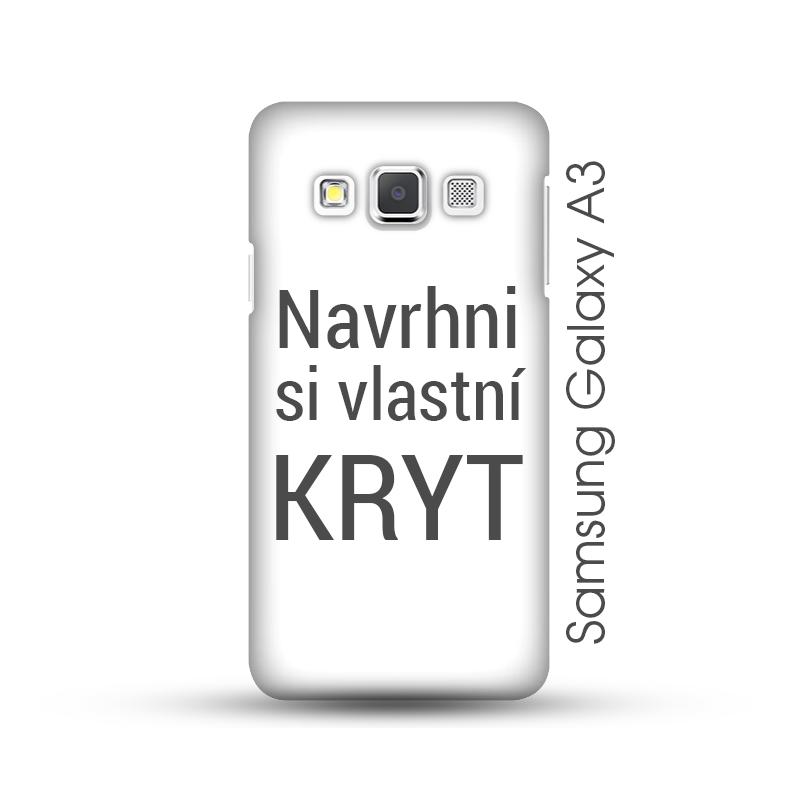 Samsung Galaxy A3 pevný kryt s vlastním motivem Lesklý