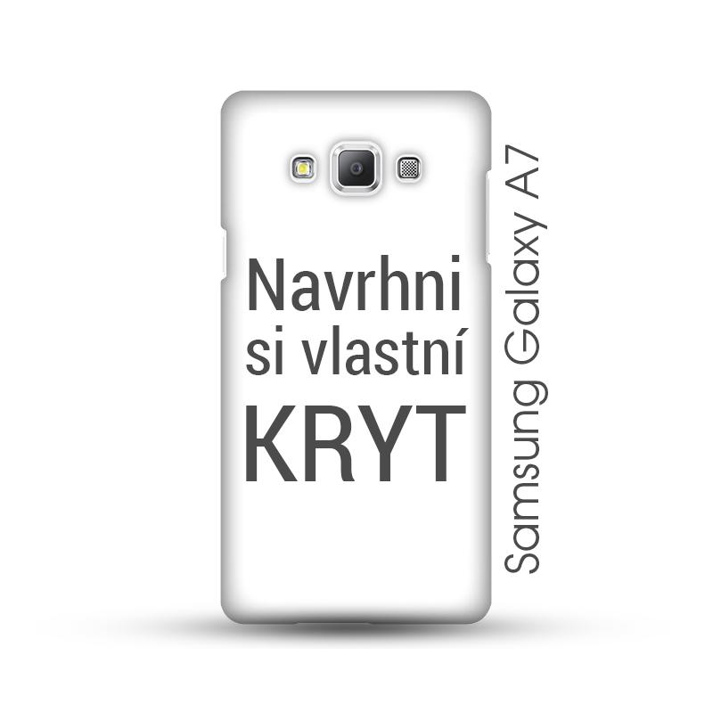 Samsung Galaxy A7 pevný kryt s vlastním motivem Lesklý