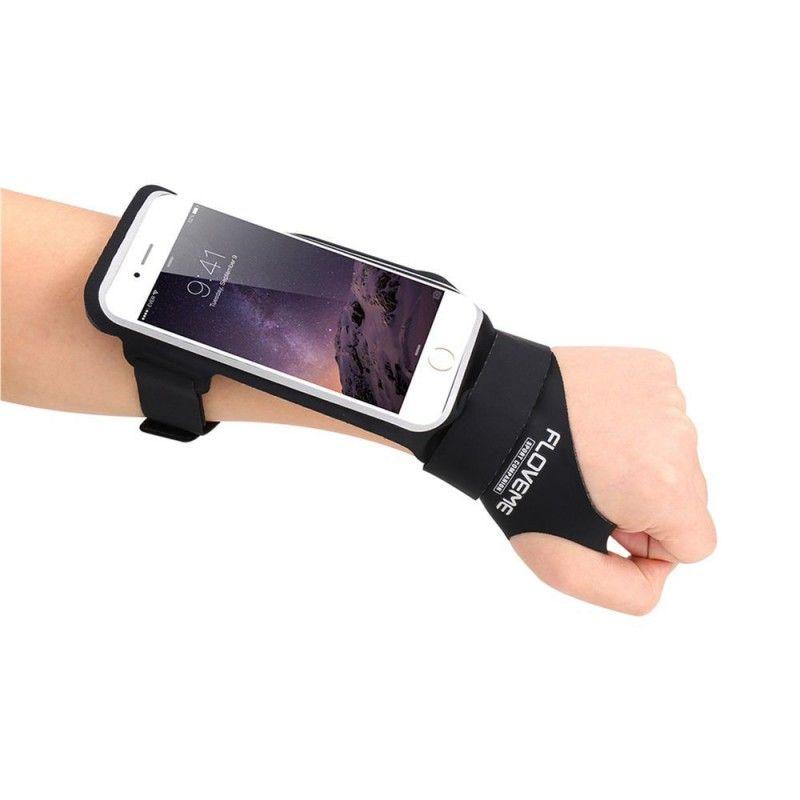Sportovní obal pro mobil na zápěstí - černý